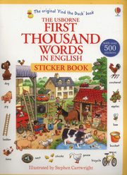 First Thousand Words in English Sticker Book, Amery Heather